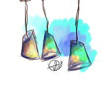 Coffee Shop Lights by Anwuli Chukwurah