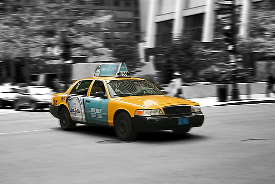 Chicago yellow cab by Jeanne Horak-Druiff