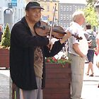 Busker playing the fiddle. by Brian220