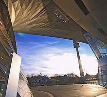 BMW Museum - entrance and Olympia tower by Luisa Fumi