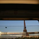 Eiffel tower in transit by Darryl A