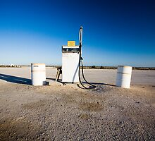 Pump at Nullabour Roadhouse, South Australia  by Jeremy Ham
