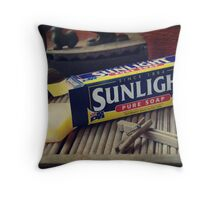 Wash Day The Old Fashioned Way... Throw Pillow