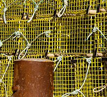 Stacked Lobster Pots by phil decocco