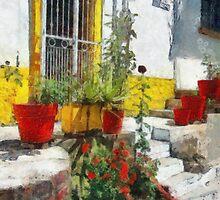 Yellow Doorway (painted) by James Zickmantel