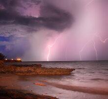 Lightning Over Nightcliff Beach, 14 Nov 2010 by Andrew Brooks