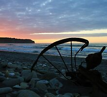 """silhouetted rust""  hunts beach, west coast, nz by rina  thompson"