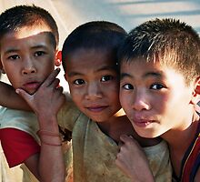 Boys, Laos by MonavdSteeg