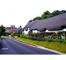 Thatched Roof Cottage Photographic Print