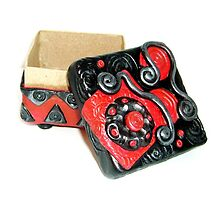 Polymer Box - Black & Red Design (2) by d2dzynes