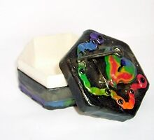 Polymer Box - Rainbow Heart & Key (2) by d2dzynes