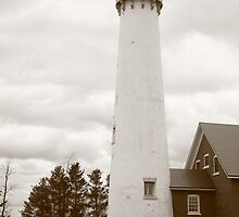 Lighthouse - Tawas Point, Michigan by Frank Romeo