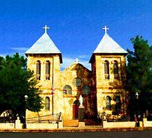 San Albino Church, Mesilla, New Mexico by Kurt  Van Wagner