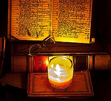 book-keeping by candlelight by Judith Livingston