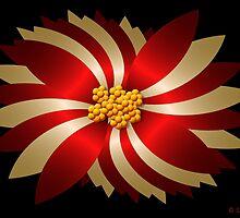 Holiday Poinsettia  by Sandra Bauser Digital Art
