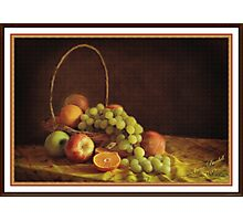 Fruit in a Basket ( still life ) Photographic Print