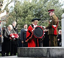 Mayor of Grimsby lays her wreath by gracetalking