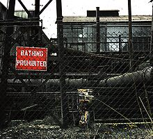 Bathing Prohibited! Shelton Steelworks, UK. c.1980 by Steve Crompton
