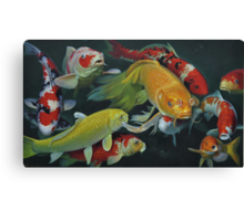 Oil painting:FISH Canvas Print