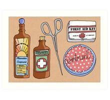 Medical Items Art Print