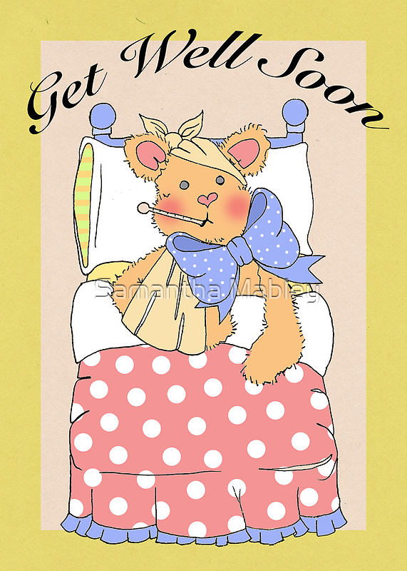 Get Well Soon Card by Samantha Mabley