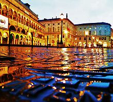 The Piazza in Padova, Italy by Stephen Burke