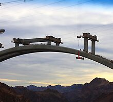 Hoover Dam Bridge Under Construction by Barbarella0303