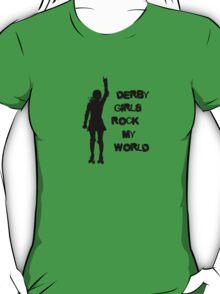 Derby Girls Rock My World (black) T-Shirt