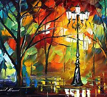 TRUE LIGHT - Original Art Oil Painting By Leonid Afremov by Leonid  Afremov
