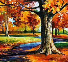 BRISTOL FALL - Original Art Oil Painting By Leonid Afremov by Leonid  Afremov