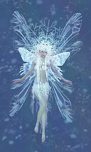 Snowflake fairy queen