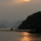 Sunset in Halong Bay - Vietnam by lynnehayes