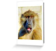 Guinea Baboon Portrait Greeting Card