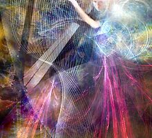 The Faery Harpist playing on the wind by Bill Brouard