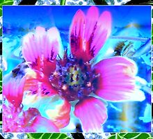 Blanket flower design in blue by ♥⊱ B. Randi Bailey