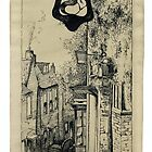 The Sign of the Mermaid, Rye, Pen Sketch 1929. by wippapics