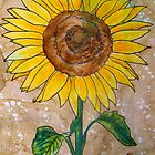 Single Sunflower by Alexandra Felgate