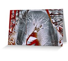 Trees I: Silvery Forest Greeting Card