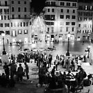 Spanish Steps at Night by Kent Nickell