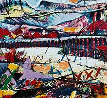 Panaromic Landscape with Divisions(detail three) by Graham Cox