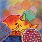 Bubble cat by Marilia Martin