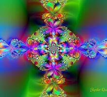 RAINBOW FLOWER CROSS by Jupiter Queen