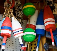 Clutch Of Ocean Buoys by phil decocco