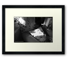A Seat in the Sun - Cottage Interior, County Donegal. Framed Print