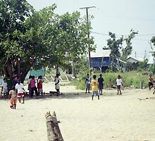 Kids Playing in Schoolyard by SylviaS