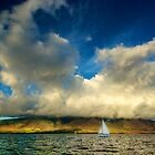 Maui Sailboat Cloudscape by Benjamin Padgett