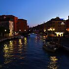 Venice Italy at Night by Stephen Burke