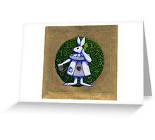 Gold Rabbit Alice Greeting Card
