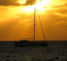Sailboat at Sunset by Mellisa Wagner