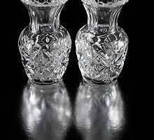 Crystal vases by Martyn Franklin